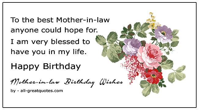 Best Happy Birthday Mother In Law Wish