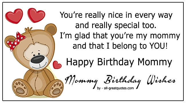 cute happy birthday mommy poems wishes