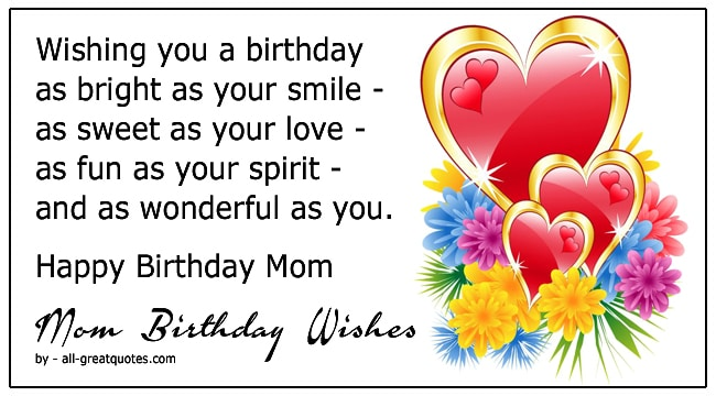 lovely happy birthday mom wishes messages