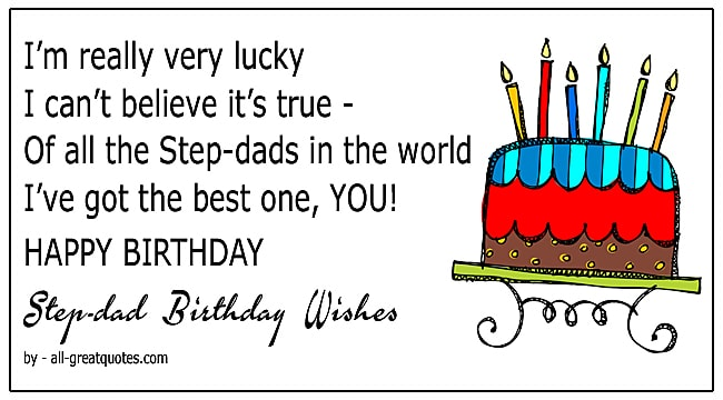 Best Step Day Birthday Wishes To Write In A Card