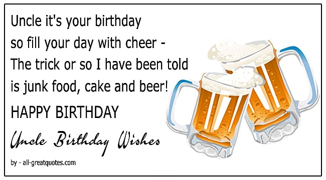 Best Uncle Birthday Wishes For Uncle To Write