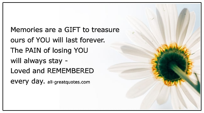 Grief Loss Verses Loved And Remembered Every Day