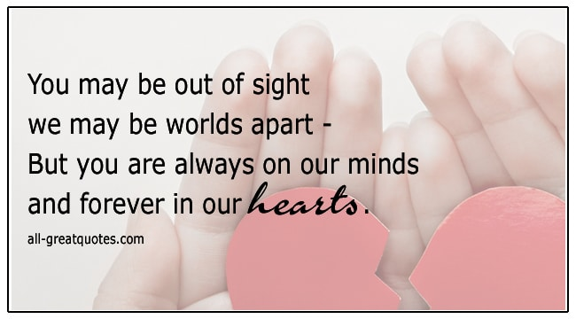 Grief Loss Verses You Are Always On Our Minds And Forever In Our Hearts