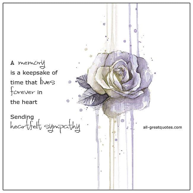 Sending Heartfelt Sympathy Card