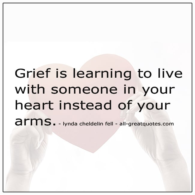 Grief Is Learning To Live With Someone In Your Heart Quote
