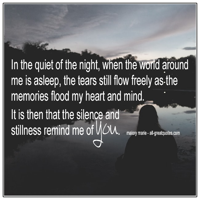 In The Quiet Of The Night When The World Around Me Is Asleep Grief Cards