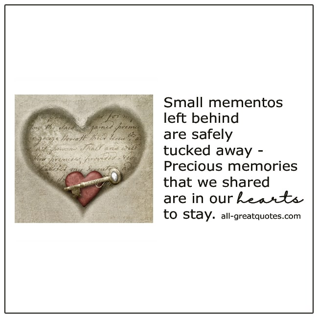 Small Mementos Left Behind Safely Tucked Away Grief Verse