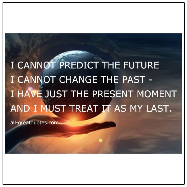 I Cannot Predict The Future Grief Poem Card