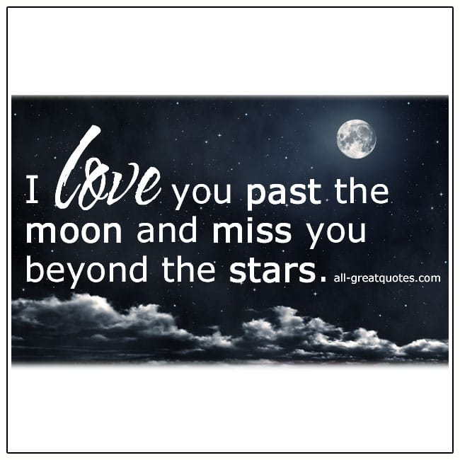 I Love You Past The Moon Grief Loss Quote Cards