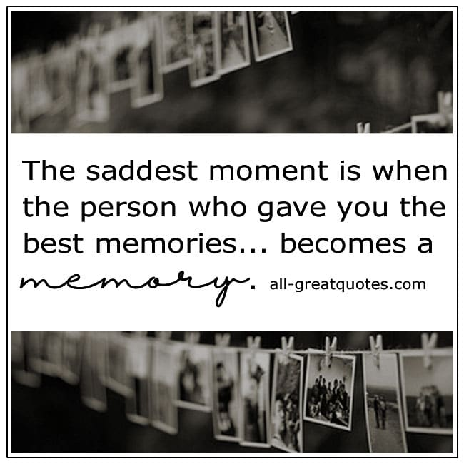 Becomes A Memory Grief Quotes