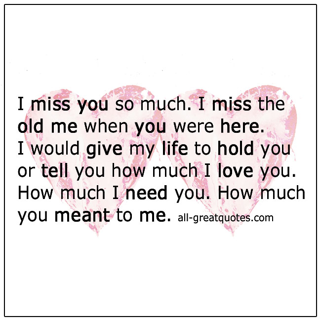 I Miss You So Much Grief Quotes