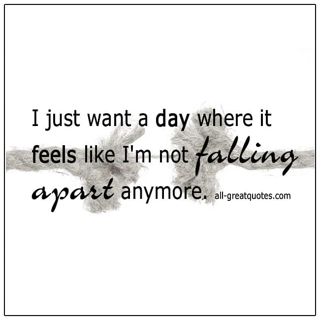Like Im Not Falling Apart Anymore Grief Quote