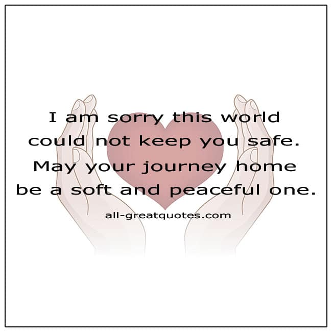 This World Could Not Keep You Safe Grief Quote