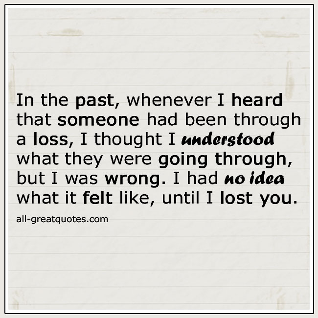 Until I Lost You Quotes