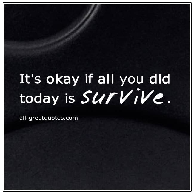If All You Did Today Was Survive Quote