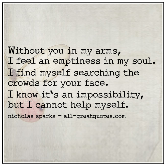 Quote Without You In My Arms