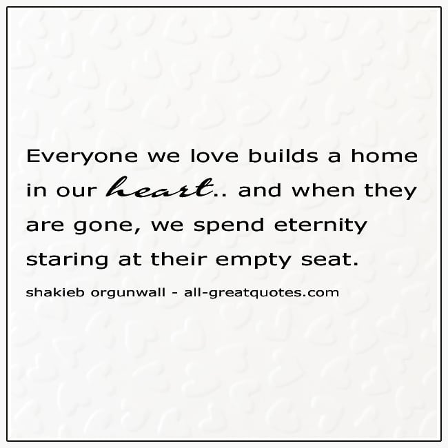 Gone Grief Quotes Picture Staring At Their Empty Seat