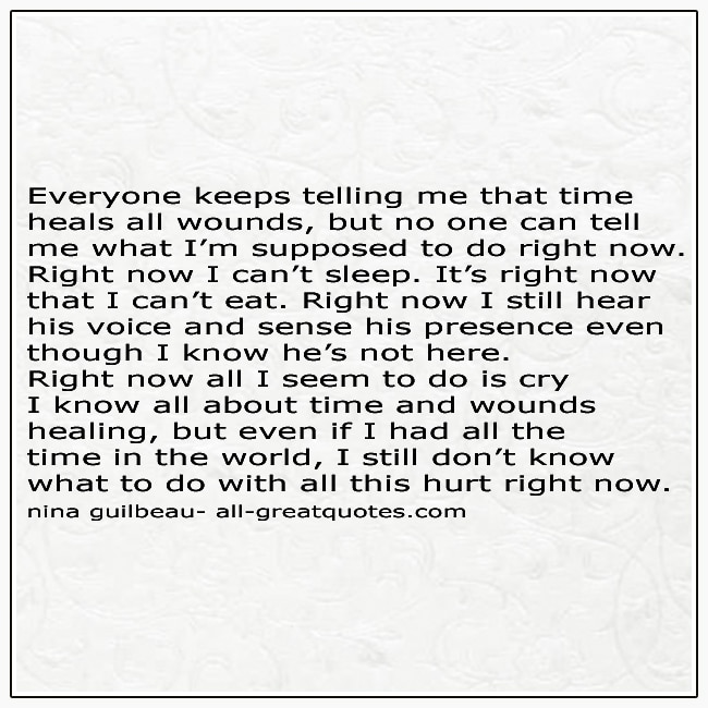 Deep Grief Quote Picture Time Heals All Wounds