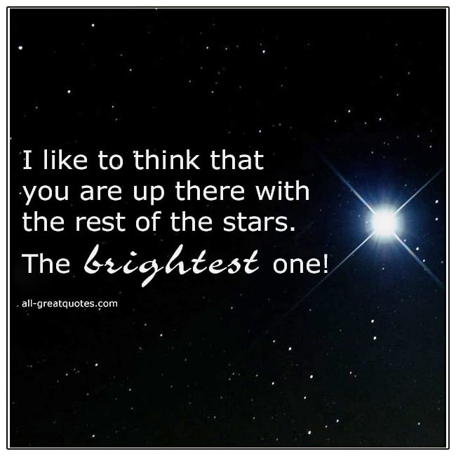 Up There With The Rest Of The Stars Grief Picture Quotes