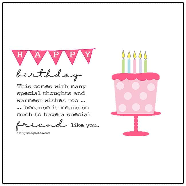 A Special Friend Like You Birthday Card