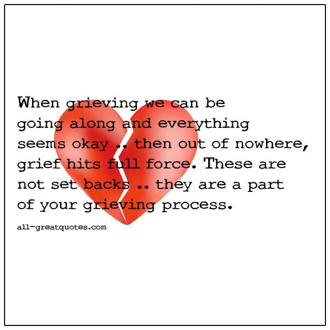 Out Of Nowhere Grief Hits Full Force Quote Picture