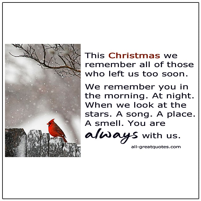Christmas In Heaven Left Us Too Soon Card