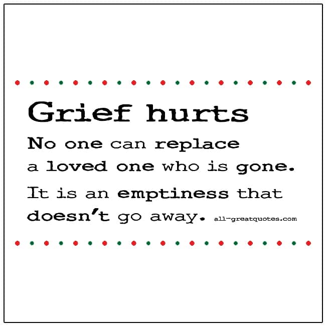 Grief Hurts Picture Quote