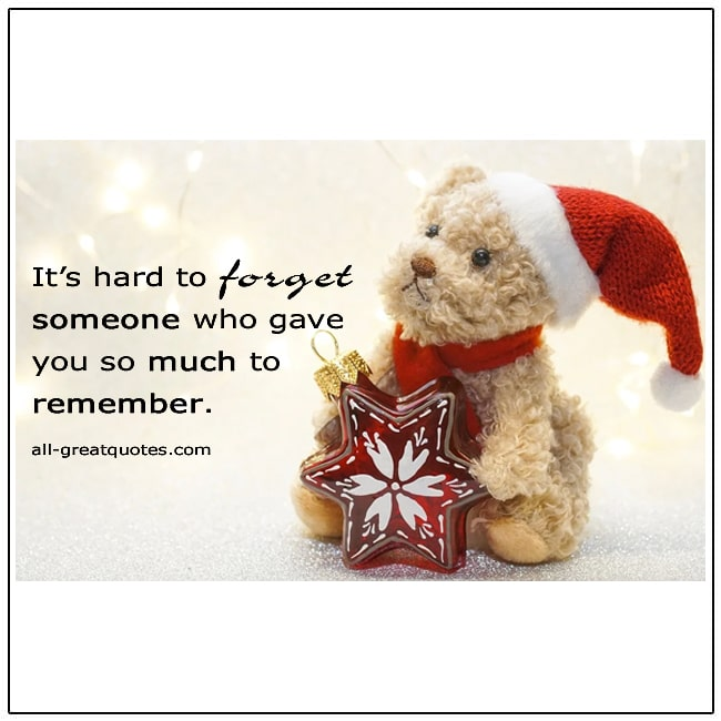 It's Hard To Forget Someone Christmas In Heaven Card