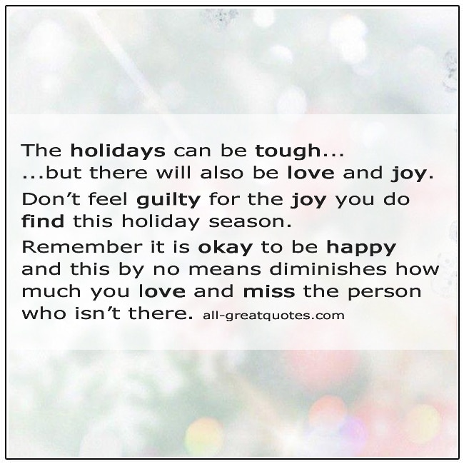 The Holidays Can Be Tough Grief Christmas Card