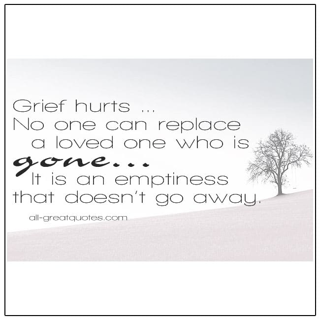Grief Hurts Quote