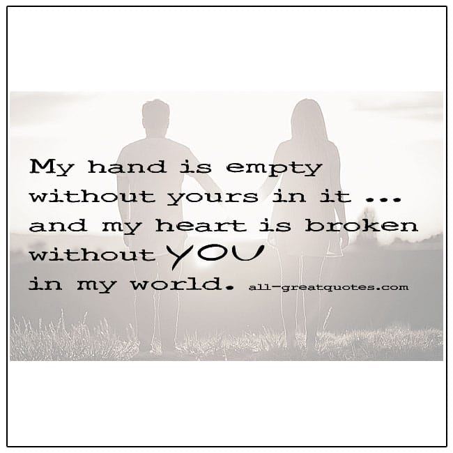 My Heart Is Broken Without You