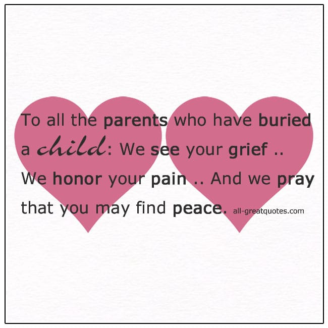Parents Who Have Buried A Child
